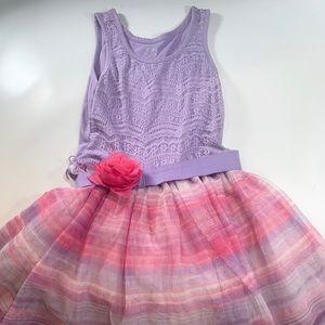 1989 Place Sleeveless Puffy Tulle Skirt Dress Sz 6